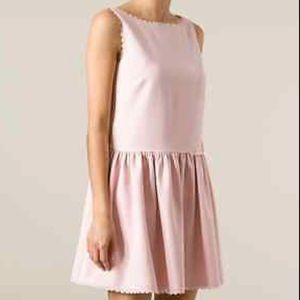 Red Valentino Pink Scalloped Shift Dress Women's 4